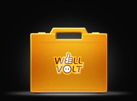 Логотип для интернет-магазина «WellVolt» от студии Caustica.