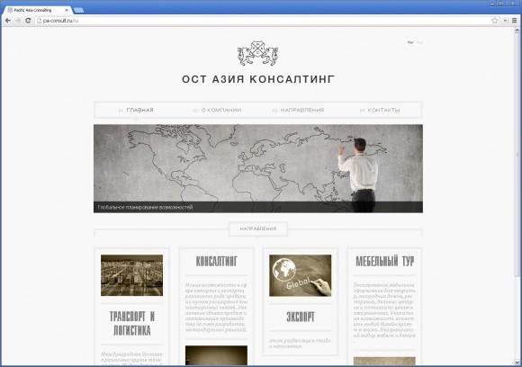Сайт для «Ост-Азия Консалтинг» от Braiinhat studio & Ivan Dymkov