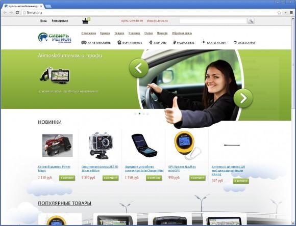 Сайт компании «Сибирь регион» от Цветного кота